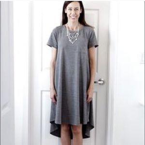 LuLaRoe Heather Grey Carly Swing dress size Large